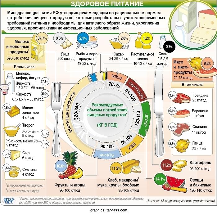 схема правильного питания на английском языке